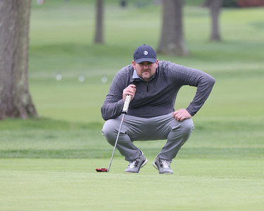 Jon Pratkanis looks at the green on hole 9 at Butler Country Club during Wednesday's U.S. Open WPGA local qualifier. Pratkanis finished at +5. Seb Foltz/Butler Eagle 05/05/21