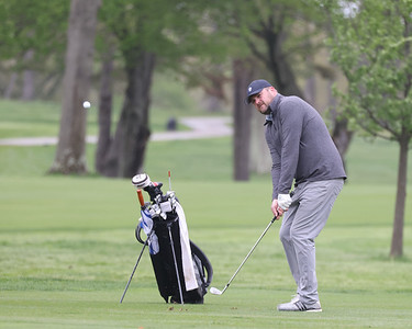 Jon Pratkanis watches his ball head to the green on hole 9 at Butler Country Club during Wednesday's U.S. Open WPGA local qualifier. Pratkanis finished 5 over on the day. Seb Foltz/Butler Eagle 05/05/21