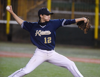 Knoch's Anthony Grafton, 12, delivers a pitch in the second inning against Mars. Harold Aughton/Butler Eagle