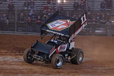 Carl Bowser, Heat rounds at Lernerville Friday, sprint car. Seb Foltz/Butler Eagle 05/14/21