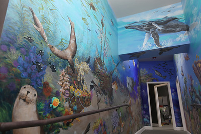 Mural painted by local artists Paul Means and Diane Smith in the Butler County Alliance for Child Advocacy building in Unionville. Seb Foltz/Butler Eagle