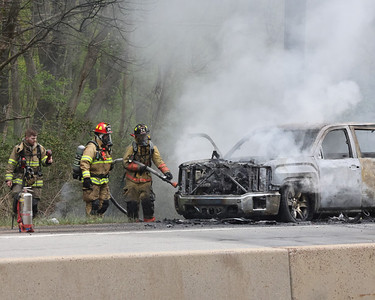 Route 422 truck fire Saturday. Seb Foltz/Butler Eagle 05/15/21
