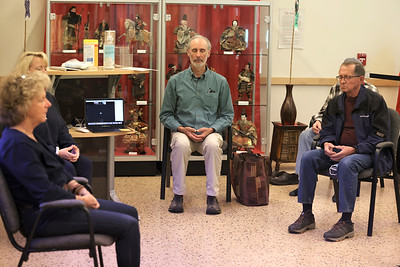Members of Butler's Buddhist group meditate Thursday at the Maridon Museum. Seb Foltz/Butler Eagle 05/13/21