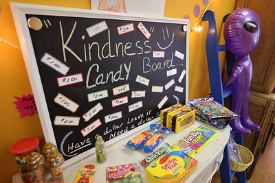 Mars Candy Land Kindness Candy Board gives customers an opportunity to donate some money for kids to buy candy. Seb Foltz/Butler Eagle. Seb Foltz/Butler Eagle 05/21/21