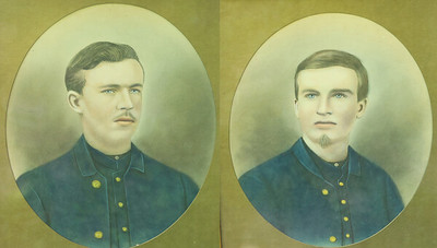 Portraits of two of the four Alwine brothers, Civil War veterans from Butler County. It is unknown which two brothers are in the images. (Submitted/ Reproduced by Seb Foltz)