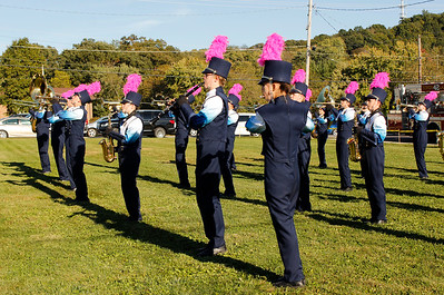 The Mars Area Marching Band gets ready to line up for the Homecoming parade. Julia Maruca / Butler Eagle