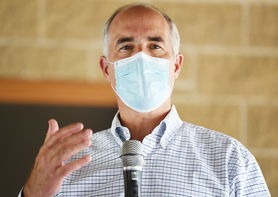 Senator Bob Casey, democrat, address members of the Butler County Democratic Committee at the Masonic Pavilion at Alameda Park Tuesday afternoon. Harold Aughton/Butler Eagle.