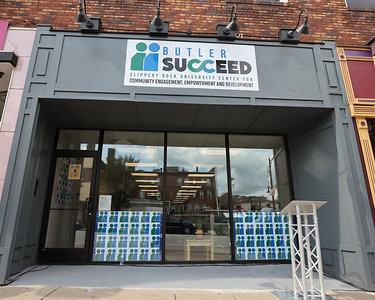 New Slippery Rock University Butler Succeed building on Main Street in Butler. The site will be home to the schools community engagement programs. Seb Foltz/Butler Eagle 09/10/21