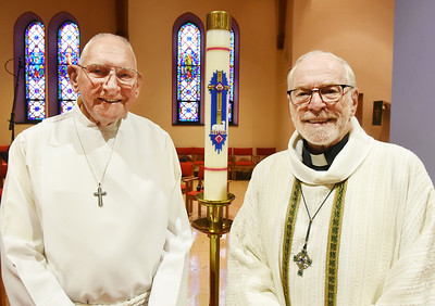 Robert Niggel, left, will mark 50 years as a lay leader and Jim Neal will celebrate 50 years since his ordination at St. Mark's Lutheran Church in Butler. Harold Aughton/Butler Eagle