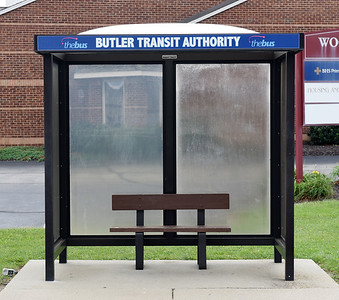 Butler Transit Authority bus stop along Woody Drive. Harold Aughton/Butler Eagle