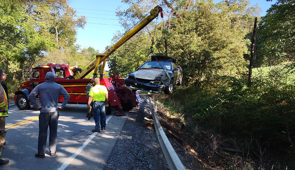 Car wreck on Route 308.