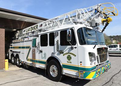 Butler Twp. Fire District 3, new ladder truck. Harold Aughton/Butler Eagle