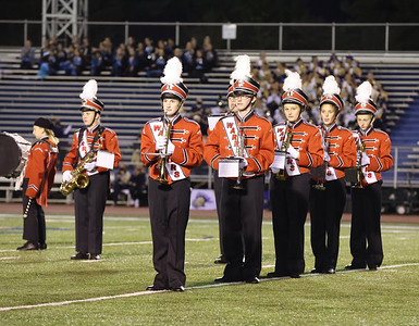 Moniteau band members perform at the Butler County Band Festival Wednesday. Seb Foltz/Butler Eagle 09/29/21