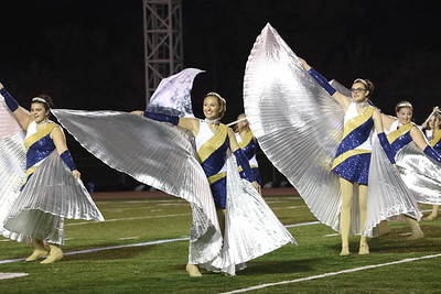 Knoch dance team members perform at the Butler County Band Festival Wednesday. Seb Foltz/Butler Eagle 09/29/21