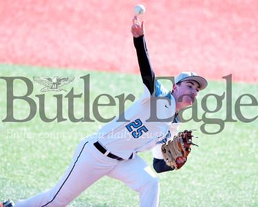 Harold Aughton/Butler Eagle: Seneca Valley's Jon McCullough delivers the pitch against Shaler.