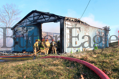 Harold Aughton/Butler Eagle: Shuler Woodworking in Fenelton sustained significan fire damage Wednesday afternoon.