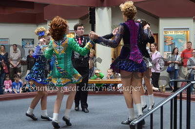 Photo by Alexandria Mansfield. The Bell School of Irish Dance kicks off CranFest performances Saturday in the Town Square of the Cranberry Township Municipal Center.