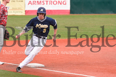 Knoch V Indiana:  Knoch #9 rounds third base on his way to score.