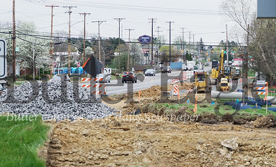 Photo by J.W. Johnson Jr. Work has begun on a bridge replacement project on Freedom Road in Cranberry Township.
