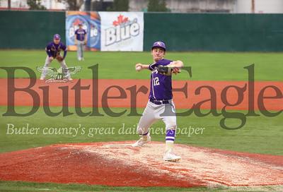 Karn City pitcher Steve O'donnell (12)