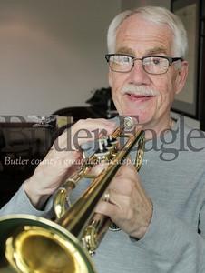 Harold Aughton/Butler Eagle: Trumpet player Jim Cunningham