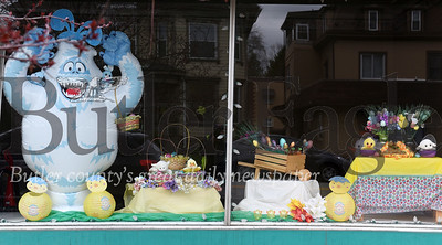 Harold Aughton/Butler Eagle: The ARC of Butler has spruced up their window on main street just in time for Easter.