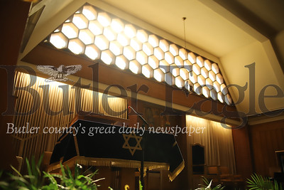 While Butler's congregation B'nai Abraham sanctuary(pictured) remains closed due to statewide stay-at-home orders, Cantor Michal Greay-Schaffer will hold the congregation's weekly Friday evening service via Zoom video stream starting Friday, April 3, from her home. Seb Foltz/Butler Eagle.