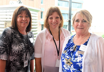 Harold Aughton/Butler Eagle: (Left to right) Amy Badger Witenski, butler Human Services; Janine Kennedy, ANR; Sue Evans, Spring Hill Suites.