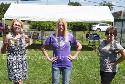 Harold Aughton/Butler Eagle: From left Patricia Potter, president; Heather Bouse, vice president; Sharon Brown, secretary;  of Stray Solutions Animal Rescue had to relocate their yard per Penn Twp. zoning ordance or face a $600 a day fine by the township.