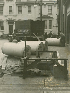 Paper Rolls being delivered to the Butler Eagle. Eagle File Photo.