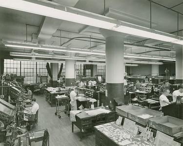 Eagle File Photo. Butler Eagle Composing Room November 22, 1960