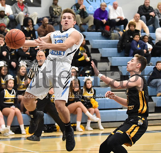 Seneca Valley vs North Allegheny in a section boys basketball game at Seneca Valley High School