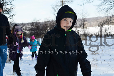 Luke Bachmann, 10, of Cranberry said he had fun hiking in celebration of groundhogs in Moraine State Park on Saturday.  Tanner Cole/Butler Eagle