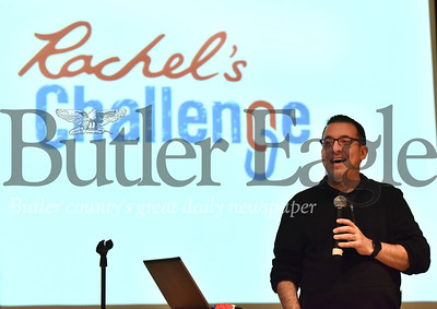 "A ""community meeting"" tonight for Rachel's Challenge at Butler Intermediate High School auditorium"