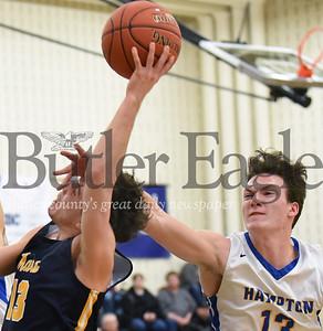 Mars vs Hampton in a section boys basketball game at Hampton High School