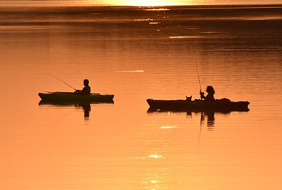 63043 Fishing along route 528 boat launch in Prospect