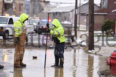 Fire and Water Main Break on 3rd Ave in Butler