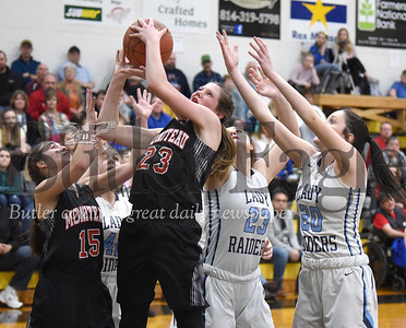 Moniteau vs Brookville in the District 9 Girls Basketball Class 3A finals at Keystone High School