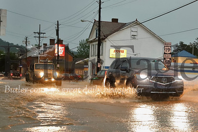 Route 19 and Beaver St. Zielienople flooding, May 2019. Seb Foltz/Butler Eagle