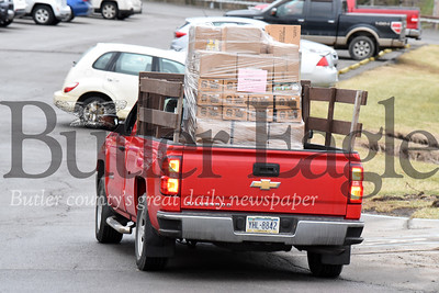 Harold Aughton/Butler Eagle: A truck full of food heads to Northern Butler county for delivery.