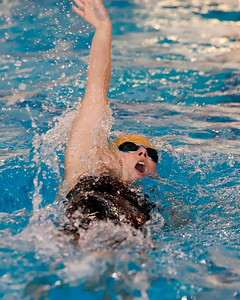Laura Goettler, Butler, 200 IM individual swimming backstroke.  WPIAL Championships at University of Pittsburgh Thursday. Seb Foltz/Butler Eagle 02/27/20