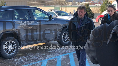 David W. Lohr arrives for a court hearing Friday in Cranberry Township. Photo by J.W. Johnson Jr.