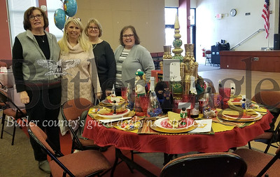 Here is a photo from the Butler PM Rotary Literacy Luncheon, which was held on Sunday afternoon at BC3. I took the picture. The event raised more than $10,000 for BC3's Adult Literacy program.Pictured at their Nutcracker-themed table are Linda Burgoon, event committee chair Sue Edward's, Denise Day and Lois Cranmer.