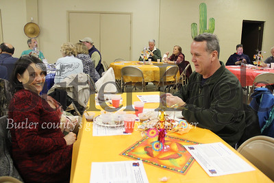 Mike and Joyce Heitzer chow down on some meat at the 12th Annual Chili Cook-Off  photos taken by Eric Jankiewicz