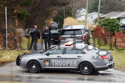 Harold Aughton/Butler Eagle: Pennsylvania State Police repsonded to a disturbance at Schantz Roard off off of route 422 Friday, December 10, 2020.