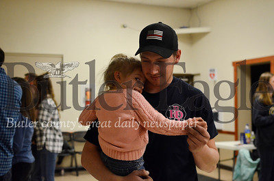 Cody Wray dances with his daughter, Harper Vandoorne, at the Harrisville Volunteer Fire Company's January square dance. Tanner Cole/Butler Eagle