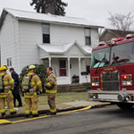 ere are 2 pics taken by me from a small fire on Thurs. Can you please drop them in local photos for Fri? Thanks. Cut lines below.A firefighter checks the fan used to air out an apartment on Thursday morning at 3051/2 East Penn St. The tenant called 911 when a fire broke out while he was cooking. The duplex partially in view behind this house at 305 Penn St. sustained about $10,000 in damages on Thursday morning as a result of a cooking fire.
