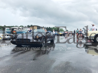 Over 500 vehicles filled the Pittsburgh-Butler Regional Airport at Saturday's 19th annual Mega Cruise hosted by the Penn Township Volunteer Fire Department. Photo by Gabriella Canales.