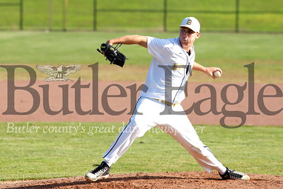 Butler starting pitcher Colby Anderson. Seb Foltz/Butler Eagle 07/23/19