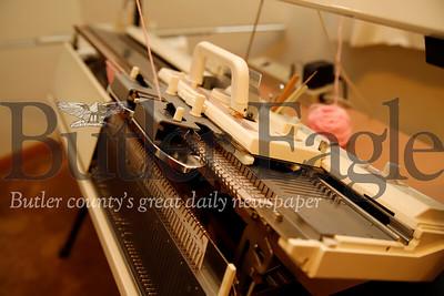 Eleanor Hendler  knitting story. Seb Foltz/Butler Eagle 07/30/19